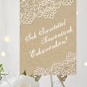 Esküvői Poszter A3, Welcome sign, Esküvői kép, Esküvő Dekor, Esküvői felirat, Vintage, tábla, Csipke,Zsákvászon, Esküvő, Dekoráció, Esküvői dekoráció, Kép, A/3-as Esküvői Poszter, bármilyen egyszerű felirattal, keret nélkül.  Tökéletes kellék & Dekor Elegá..., Meska