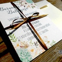 Ballagási meghívó, Elegáns meghívó, Romantikus Esküvői meghívó, Elegáns Esküvő, Vacsora meghívó, Esküvő, Naptár, képeslap, album, Meghívó, ültetőkártya, köszönőajándék, Képeslap, levélpapír, Fotó, grafika, rajz, illusztráció, Papírművészet, Elegáns Ballagási virágos meghívó, gyönyörű fényes borítékkal.  Hívd meg vendégeidet ezzel az igény..., Meska