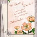 Barack virágos Esküvői meghívó, Nyári Esküvő, Arany meghívó, Barack virág, virágos meghívó, Modern, Rózsás, Rózsa, Esküvő, Naptár, képeslap, album, Meghívó, ültetőkártya, köszönőajándék, Képeslap, levélpapír, Fotó, grafika, rajz, illusztráció, Papírművészet, Esküvői Nyári Virágos meghívó,  gyönyörű fényes borítékkal.  Hívd meg vendégeidet ezzel a gyönyörű ..., Meska