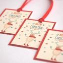Állatos Karácsonyi Ajándékkísérő, Szarvasos, Adventi Kártya, Mikulás, Szarvas, piros, Ünnepi, kiskártya, ajándék, natúr,, Naptár, képeslap, album, Karácsonyi, adventi apróságok, Ajándékkísérő, képeslap, Ajándékkísérő, Állatos Igényes Ajándékkártya darabra  * Kártya mérete: Kb:  4,6x6.5cm * Hátoldal üres, saját üzenet..., Meska