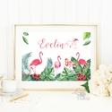 Babaszoba Dekoráció, Flamingó festmény, Virágos kép, falikép, állatos, madár, Baba, gyerek,Gyerekszoba, névre szóló, Dekoráció, Baba-mama-gyerek, Gyerekszoba, Baba falikép, A4 Minőségi Print Lap, Nyomtatás, Névre szóló  * KERET NÉLKÜL! *  * MÉRET: A4  * ANYAG: 250g-os kivá..., Meska