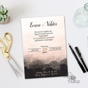 Modern, elegáns Esküvői meghívó, Nyári Esküvő, pasztell, romantikus, tavaszi, barack, meghívó, fekete, vízfesték, Esküvő, Naptár, képeslap, album, Meghívó, ültetőkártya, köszönőajándék, Esküvői dekoráció, Minőségi  Esküvői  Meghívó  * MEGHÍVÓ CSOMAG BORÍTÉKKAL: - Meghívó egy lap, egy oldalas: kb.: 14cm x..., Meska