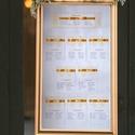 Ültetési rend, Arany Esküvő, Ültetésrend, Barokk mintás, Esküvő ültető kártya, sárga, Party, Esküvő, Naptár, képeslap, album, Meghívó, ültetőkártya, köszönőajándék, Esküvői dekoráció, Fotó, grafika, rajz, illusztráció, Papírművészet, Esküvői Ültetési rend Barokk Designal 9 + főasztal   Gyönyörű Igényes Esküvői Ültetési rend Alap: 4..., Meska