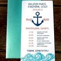 Nyári Elegáns Balatoni Esküvői meghívó, Nyári Esküvő, Tenger kék, virágok, virágos, balaton, Modern, Esküvő, Naptár, képeslap, album, Meghívó, ültetőkártya, köszönőajándék, Esküvői dekoráció, Esküvői Nyári Virágos Tenger kék meghívó, Amerikai stílusú Egyedi Igényes Esküvői meghí..., Meska