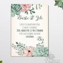 Kövirózsás Esküvői meghívó 1lapos borítékkal, Nyári Esküvő, Barack virágok, nyári virágos meghívó, Modern, Natúr, Esküvő, Naptár, képeslap, album, Meghívó, ültetőkártya, köszönőajándék, Képeslap, levélpapír, Minőségi  Esküvői  Meghívó  * MEGHÍVÓ CSOMAG BORÍTÉKKAL: - Meghívó egy lap, egy oldalas: kb.: 14cm x..., Meska