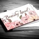 Névjegykártya, Egyedi Tervezés, címke, Névjegy, design, szerkesztés, virágos, logo, arany, termék, ajándékkísérő, logó, Naptár, képeslap, album, Képeslap, levélpapír, Jegyzetfüzet, napló, Ajándékkísérő, Fotó, grafika, rajz, illusztráció, Papírművészet, Virágos Névjegykártya csajoknak!  Fodrászoknak, Kozmetikusoknak bárkinek aki elegáns stílusban szer..., Meska