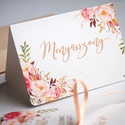 Esküvői ültetőkártya, rusztikus, elegáns esküvő, party kártya, vintage, Esküvői ültető, natúr, romantikus, Esküvő, Dekoráció, Meghívó, ültetőkártya, köszönőajándék, Esküvői dekoráció, Fotó, grafika, rajz, illusztráció, Papírművészet, Elegáns Vintage Virágos Esküvői  ültetőkártya, Egyedi Igényes sátras, két oldalas asztali ültetőkár..., Meska