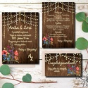 Vad Réti Virágos Esküvői meghívó, Pajta Esküvő, falu, Vintage Esküvői lap, vad virág, Rusztikus, Bohém, Esküvő, Naptár, képeslap, album, Meghívó, ültetőkártya, köszönőajándék, Esküvői dekoráció, Minőségi Virágos Esküvői  Meghívó  * MEGHÍVÓ CSOMAG BORÍTÉKKAL: - 1.  -Meghívó lap, egy oldalas: kb...., Meska