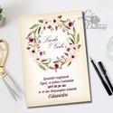 Esküvői meghívó, Vintage meghívó, bohém virágkoszorú, Virágos Esküvői lap, zöld, natúr meghívó, vízfesték hatású meghívó, Esküvő, Naptár, képeslap, album, Meghívó, ültetőkártya, köszönőajándék, Képeslap, levélpapír, Minőségi  Esküvői  Meghívó  * MEGHÍVÓ CSOMAG BORÍTÉKKAL: - Meghívó egy lap, egy oldalas: kb.: 14cm x..., Meska