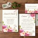 Hortenzia Esküvői meghívó, Romantikus, elegáns meghívó, Barack virág, virágos meghívó, Modern, Rózsás, Rózsa, zöld, Esküvő, Naptár, képeslap, album, Meghívó, ültetőkártya, köszönőajándék, Képeslap, levélpapír, Minőségi Virágos Esküvői  Meghívó  * MEGHÍVÓ CSOMAG BORÍTÉKKAL: - 1.  -Meghívó lap, egy oldalas: kb...., Meska