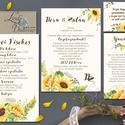 Napraforgó Esküvői meghívó, Rusztikus meghívó, Bohém esküvő, Pajta esküvő, vadvirág, réti virág, sárga virágos meghívó, Esküvő, Naptár, képeslap, album, Meghívó, ültetőkártya, köszönőajándék, Képeslap, levélpapír, Minőségi Virágos Esküvői  Meghívó  * MEGHÍVÓ CSOMAG BORÍTÉKKAL! *  - 1. / Meghívó lap, egy oldalas: ..., Meska