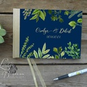 Esküvői Emlékkönyv, Fűszer növény könyv, zöld levelek, zöld virágos, Esküvői vendégkönyv, nyár, zöld növény,, Esküvő, Naptár, képeslap, album, Esküvői dekoráció, Nászajándék, Esküvői Virágos A5-ös Emlékkönyv.  Gyönyörű Igényes Esküvői Emlékkönyv, A5-ös méret, 70 prémium lapo..., Meska