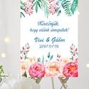 Esküvői Poszter A2, Esküvői kép, Esküvő Dekor, Esküvői felirat, Vintage, Elegáns, Virágos, Vendég, Esküvő, Dekoráció, Esküvői dekoráció, Kép, Fotó, grafika, rajz, illusztráció, Papírművészet, A/2-es Esküvői Poszter, bármilyen egyszerű felirattal, keret nélkül.  Tökéletes kellék & Dekor Eleg..., Meska