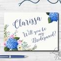Esküvői meghívó, Esküvői tanú lap, koszorúslány kérő, Esküvő Képeslap, virágos lap, menyasszony, Esküvő, Naptár, képeslap, album, Meghívó, ültetőkártya, köszönőajándék, Képeslap, levélpapír, Festészet, Fotó, grafika, rajz, illusztráció, Esküvői meghívó, koszorúslány vagy tanú kérő lap A/6, gyönyörű fényes borítékkal.  Személyre szóló,..., Meska