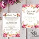 Hortenzia Esküvői meghívó,  Dupla oldalas meghívó, Nyári Esküvő, Barack virág, virágos meghívó, Rózsás, Rózsa, rózsaszín, Esküvő, Naptár, képeslap, album, Meghívó, ültetőkártya, köszönőajándék, Képeslap, levélpapír, Minőségi Esküvői Virágos Meghívó  * MEGHÍVÓ CSOMAG: - Meghívó lap, DUPLA oldalas nyomtatással: kb.: ..., Meska