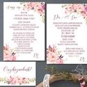 Mályva Esküvői meghívó, Rózsás meghívó, rózsa, elegáns, romantikus, virágos meghívó, vízfesték meghívó, nyári esküvő, Esküvő, Naptár, képeslap, album, Meghívó, ültetőkártya, köszönőajándék, Képeslap, levélpapír, Esküvői Nyári Virágos Elegáns meghívó, gyönyörű, prémium fényes borítékkal.  Hívd meg vendégeidet ez..., Meska