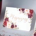 Esküvői ültetőkártya, ültető, Rózsa, Rózsás kártya, virágos ültető, ültetésirend, hely kártya, virágos esküvői dekoráció, Esküvő, Naptár, képeslap, album, Meghívó, ültetőkártya, köszönőajándék, Esküvői dekoráció, Fotó, grafika, rajz, illusztráció, Papírművészet, Igényes, sátras, két oladalas asztali ültetőkártya  öszzehajtva: kb: 8.5x6cm  Egyszeri szerkesztési..., Meska