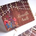 Esküvői ültetőkártya, ültető, Rusztikus, bohém, vadvirágos ültető, ültetésirend, hely kártya, virágos esküvői dekoráció, Esküvő, Naptár, képeslap, album, Meghívó, ültetőkártya, köszönőajándék, Esküvői dekoráció, Fotó, grafika, rajz, illusztráció, Papírművészet, Igényes, sátras, két oladalas asztali ültetőkártya  öszzehajtva: kb: 8.5x6cm  Egyszeri szerkesztési..., Meska