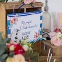 Esküvői Dekoráció, Esküvői felirat A4, dekor, Felirat, Banner, Bunting, Esküvő, Vintage, Rusztikus, tábla, Esküvő, Dekoráció, Esküvői dekoráció, Nászajándék, Esküvői Dekoráció, A4-es nyomtatott lap, szalaggal kötve, a pár nevével, virág Designal, passzoló sz..., Meska