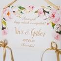 Esküvői Dekoráció, Esküvői felirat A4, dekor, Felirat, Poszter, romantikus, Esküvő, Vintage, Rusztikus, tábla, Esküvő, Dekoráció, Esküvői dekoráció, Nászajándék, Esküvői Dekoráció, A4-es nyomtatott lap, szalaggal kötve, a pár nevével, virág Designal, passzoló sz..., Meska