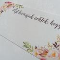 """Nászajándék, Kiegészítő kártya Pénzátadó Borítékhoz,  vintage esküvő, party kártya, azt kívánjuk nektek hogy, Esküvő, Dekoráció, Meghívó, ültetőkártya, köszönőajándék, Esküvői dekoráció, Pénzátadó Borítékhoz: """"Azt kívánjuk Nektek, hogy Kártya /  lap  Mérete kb: 14x8cm  Passzoló Meghivót..., Meska"""