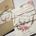 Pénz átadó boríték, Nászajándék, Gratulálunk képeslap, Esküvői Gratuláció, Esküvői pénz lap, Igényes Rusztikus Pénz Átadó Képeslap Prémiu...