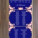 Vintage Esküvő, Ültetési rend, Esküvői Ültetésrend, Virágos, Rusztikus, Esküvő ültető kártya, Dekor, Party, Esküvő, Naptár, képeslap, album, Meghívó, ültetőkártya, köszönőajándék, Esküvői dekoráció, Virágos Esküvői Ültetési rend.  Gyönyörű Igényes Esküvői Ültetési rend, A4-es lapok, szalaggal össze..., Meska