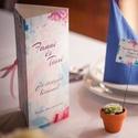 Esküvői Menü, Bohém Esküvő, Virágos Esküvői lap, Rusztikus, Vintage Esküvő, Virágos, Party menü, Esküvő, Naptár, képeslap, album, Meghívó, ültetőkártya, köszönőajándék, Esküvői dekoráció, Esküvői Bohém virágos Álló Háromszög Menü szatén szalaggal  Gyönyörű Igényes Esküvői Menükártya  3sz..., Meska