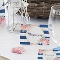 Esküvői ültető kártya, Elegáns, virágos ültető, hely, asztal, Esküvői dekor, Virágos, Party, Esküvő, Naptár, képeslap, album, Meghívó, ültetőkártya, köszönőajándék, Esküvői dekoráció, Fotó, grafika, rajz, illusztráció, Papírművészet, Elegáns virágos Esküvői Ültető kártya.  öszzehajtva: 10.1x7.1cm  250 gsm matt, vászon-bordázott min..., Meska