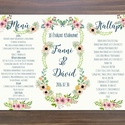 Esküvői Menü, Rusztikus Esküvő, Virágos Étlap, Itallap, Italok, Vacsora, mezei virágok, Vintage Esküvő, Party, réti, Esküvő, Naptár, képeslap, album, Meghívó, ültetőkártya, köszönőajándék, Esküvői dekoráció, Esküvői Rusztikus Natúr Álló Háromszög Menü Kötöző spárgával  Gyönyörű Igényes Rusztikus Esküvői Men..., Meska