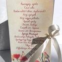 Esküvői Menü, Rusztikus Esküvő, Virágos Étlap, Itallap, Italok, Vacsora, mezei virágok, Vintage Esküvő, Party, réti, Esküvő, Naptár, képeslap, album, Meghívó, ültetőkártya, köszönőajándék, Esküvői dekoráció, Esküvői Rusztikus Natúr Álló Háromszög Menü Réti-Mezei virágokkal Szatén szalaggal kötve  Gyönyörű I..., Meska