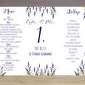Esküvői Menü, Levendula Virágos Esküvői lap, Rusztikus, Vintage Esküvő, Levendulás, Party menü, itallap, étlap, kártya, Esküvő, Naptár, képeslap, album, Meghívó, ültetőkártya, köszönőajándék, Esküvői dekoráció, Esküvői Rusztikus levendula Álló Háromszög Menü Szalaggal    Gyönyörű Igényes Esküvői Menükártya  3s..., Meska