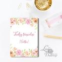 Esküvői kép, Dekoráció, kellék, Esküvői lap, Esküvő Dekor, Esküvői felirat, Vintage, Elegáns, Virágos, kártya, desszert, Esküvő, Dekoráció, Esküvői dekoráció, Kép, 13x18 cm-es Esküvői kártya / Lap. Standard álló képkeretbe, asztalra.  Egyéb méretek kérhetőek:  * 1..., Meska