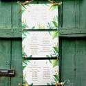 Nyári Esküvő, Ültetési rend, Esküvői Ültetésrend, Trópusi, levelek, Esküvő ültető kártya, Zöld, Party, Esküvő, Naptár, képeslap, album, Meghívó, ültetőkártya, köszönőajándék, Esküvői dekoráció, Nyári Esküvői Trópusi leveles Ültetési rend akár 12 asztalig is.  Gyönyörű Igényes Esküvői Ültetési ..., Meska