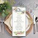 Esküvői Asztalszám, Menü, Itallap, Étlap, Vacsora, mezei virág, rusztikus, vintage, réti, Esküvői dekor, Asztal dekor, Esküvő, Naptár, képeslap, album, Meghívó, ültetőkártya, köszönőajándék, Képeslap, levélpapír, Asztalszám, Nyári Esküvőre tökéletes Design!  Kiemelkedő dekorációja lehet az Esküvői Asztaloknak.  ..., Meska