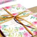 Rózsakert Esküvői meghívó, Nyári Esküvő, Rózsa, rózsás, elegáns, romantikus, virágos meghívó, vízfesték meghívó, Esküvő, Naptár, képeslap, album, Meghívó, ültetőkártya, köszönőajándék, Képeslap, levélpapír, Esküvői Nyári Virágos Elegáns meghívó, gyönyörű, prémium fényes borítékkal.  Hívd meg vendégeidet ez..., Meska