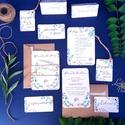 Greenery Őszi Esküvői meghívó, Rusztikus meghívó, Bohém, Natúr meghívó, erdei, natur, zöld levelek, természetközeli, ősz, Esküvő, Naptár, képeslap, album, Meghívó, ültetőkártya, köszönőajándék, Esküvői dekoráció, Fotó, grafika, rajz, illusztráció, Papírművészet, Modern, Natúr Esküvőimeghívó szett Amerikai stílusú Egyedi Igényes Esküvői meghívó szett, prémium f..., Meska
