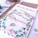 Őszi Esküvői meghívó, Rusztikus meghívó, Greenery, Natúr meghívó, erdei, zöld levelek, levél, természetközeli, ősz, Esküvő, Naptár, képeslap, album, Meghívó, ültetőkártya, köszönőajándék, Esküvői dekoráció, Fotó, grafika, rajz, illusztráció, Papírművészet, Rusztikus Natúr Esküvői meghívó szett Amerikai stílusú Egyedi Igényes Esküvői meghívó szett, prémiu..., Meska