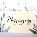 Esküvői ültetőkártya, ültető, Levendula, Levendulás kártya, virágos ültető, ültetésirend, hely kártya, , Esküvő, Naptár, képeslap, album, Meghívó, ültetőkártya, köszönőajándék, Esküvői dekoráció, Igényes, sátras, két oladalas asztali ültetőkártya  öszzehajtva: kb: 8.5x6cm  Egyszeri szerkesztési ..., Meska