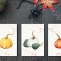 Konyhai dekoráció, 3db print lap, konyha falikép, halloween, Halloweenparty, Ajtódísz, tök, dekor, pumpkin, ősz, őszi, Dekoráció, Férfiaknak, Dísz, Kép, 13x18-as méretű Halloween-es nyomtatott kép, Print lapok  3db-os szett!  MÉRET: 13x18cm  Tökéletes H..., Meska