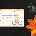 őszi Képeslap, névnapi Üdvözlőlap, őszi, születésnap,ősz, tök, medve, maci, mackó, erdei állat, őszi erdő, levél, Naptár, képeslap, album, Dekoráció, Képeslap, levélpapír, Kép, Fotó, grafika, rajz, illusztráció, Mindenmás, A/6-os méretű képeslap, borítékkal.  Más felirat is kérhető a lapra! Vásárláskor kérlek hagyj üzene..., Meska