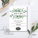 Greenery Meghívó, zöld Esküvői meghívó, eukaliptusz, silver coin, zöld leveles, levél, natúr meghívó, természetközeli, Esküvő, Naptár, képeslap, album, Meghívó, ültetőkártya, köszönőajándék, Képeslap, levélpapír, Minőségi  Esküvői  Meghívó  * MEGHÍVÓ CSOMAG BORÍTÉKKAL: - Meghívó egy lap, egy oldalas: kb.: 14cm x..., Meska