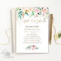 Romantikus Esküvői meghívó, Virágos, elegáns meghívó, Barack virág, virágos meghívó, Modern, Rózsás, Rózsa, zöld, barack, Esküvő, Naptár, képeslap, album, Meghívó, ültetőkártya, köszönőajándék, Képeslap, levélpapír, Minőségi Virágos Esküvői  Meghívó  * MEGHÍVÓ CSOMAG: - Meghívó egy lap, egy oldalas: kb.: 14cm x 10c..., Meska