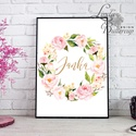 Babaszoba Dekoráció, Flamingó festmény, Virágos kép, virág falikép, állat, madár, Baba, gyerek,Gyerekszoba, Dekoráció, Baba-mama-gyerek, Gyerekszoba, Baba falikép, A/4-es méretű nyomtatott kép, Print lap.   250g matt, vászon mintájú kiváló minőségű tört-fehér írha..., Meska