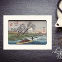 Hiroshige Autumn Moon, Japán kép, Keleti dekoráció, Falikép, japán fametszet, kína, festmény, őszi, ősz, hold, tájlép, Otthon, lakberendezés, Dekoráció, Falikép, Kép, A4 Minőségi Print, Nyomtatás  * KERET NÉLKÜL! *  * MÉRET: A4 (210mm x 297mm) Egyéb sztandard képkere..., Meska