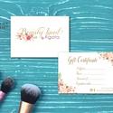 Ajándékutalvány, Egyedi Tervezés, címke, Névjegy, design, virágos logo, ajándékkísérő, logó, Kupon, kozmetikus, fodrász, Naptár, képeslap, album, Képeslap, levélpapír, Jegyzetfüzet, napló, Ajándékkísérő, Fotó, grafika, rajz, illusztráció, Papírművészet, Virágos Ajándékutalvány csajoknak!  Fotográfusoknak, Fodrászoknak, Kozmetikusoknak bárkinek aki ele..., Meska