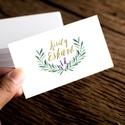 Greenery Névjegykártya, Egyedi Tervezés, címke, Névjegy, design, szerkesztés, virágos, logo, arany, ajándékkísérő, logó, Naptár, képeslap, album, Képeslap, levélpapír, Jegyzetfüzet, napló, Ajándékkísérő, Fotó, grafika, rajz, illusztráció, Papírművészet, Virágos Névjegykártya csajoknak!  Egyedi tervezésű névjegykártya  * Nyomtatás: Dupla oldalas * Kivi..., Meska