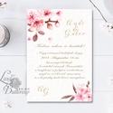 Cseresznyevirágos Esküvői meghívó, Virágos Esküvői lap, Esküvő Képeslap, rózsa lap,  rózsaszín meghívó, cseresznyefa, Esküvő, Naptár, képeslap, album, Meghívó, ültetőkártya, köszönőajándék, Képeslap, levélpapír, Minőségi Virágos Esküvői  Meghívó  * MEGHÍVÓ CSOMAG: - Meghívó egy lap, egy oldalas: kb.: 14cm x 10c..., Meska