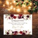Esküvői Poszter A2, Esküvői kép, Esküvő Dekor, Esküvői felirat, Vintage, Elegáns, Virágos, Őszi, Téli, Karácsony, vicces, Esküvő, Dekoráció, Esküvői dekoráció, Kép, A/2-es Esküvői Poszter, bármilyen felirattal, keret nélkül.  Tökéletes kellék & Dekor Elegáns és Vin..., Meska