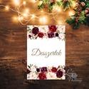 Desszert kártya, Desszertek lap, Dekoráció, kellék, Esküvői lap, Esküvő Dekor, Esküvői felirat, kártya, süti, torta, Esküvő, Dekoráció, Esküvői dekoráció, Kép, 13x18 cm-es ASZTALSZÁM Esküvői kártya / Lap. Standard álló képkeretbe, asztalra.  Ha más design-t, e..., Meska
